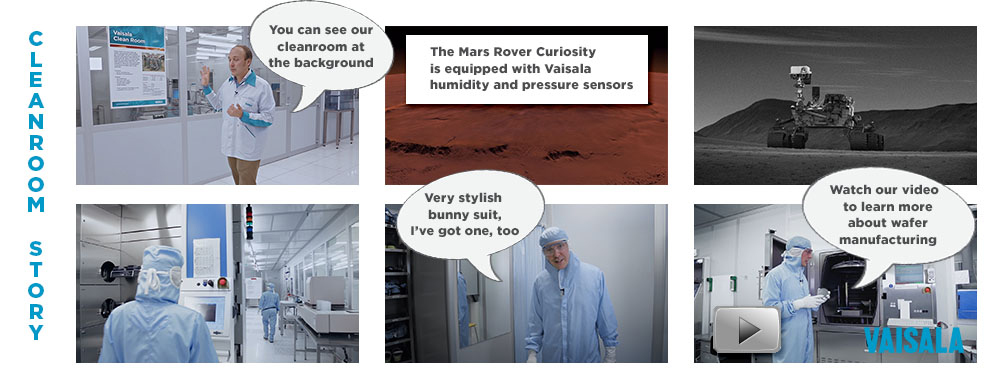 Cleanroom cartoon Vaisala