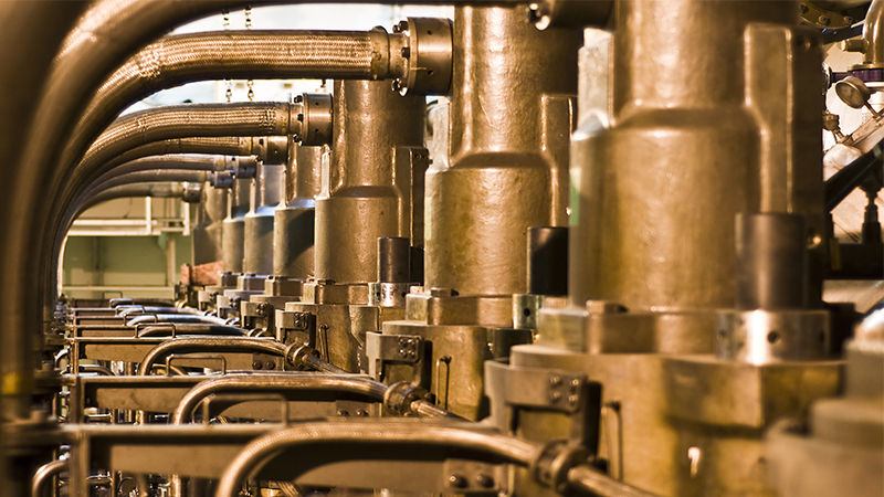 Ship´s Engine room pipes