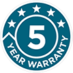5 year warranty HVAC devices