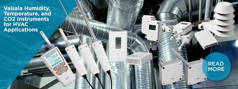Vaisala humidity, temperature, and CO2 instruments for HVAC applications