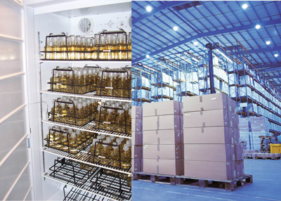 Temperature monitoring fridges warehouse Vaisala