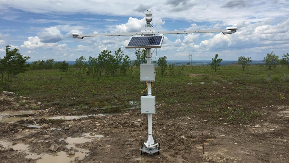 EverPower's solar weather station installed on a site in Pennsylvania - measured impact of solar eclipse August 2017