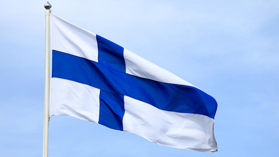Finland´s blue and white flag