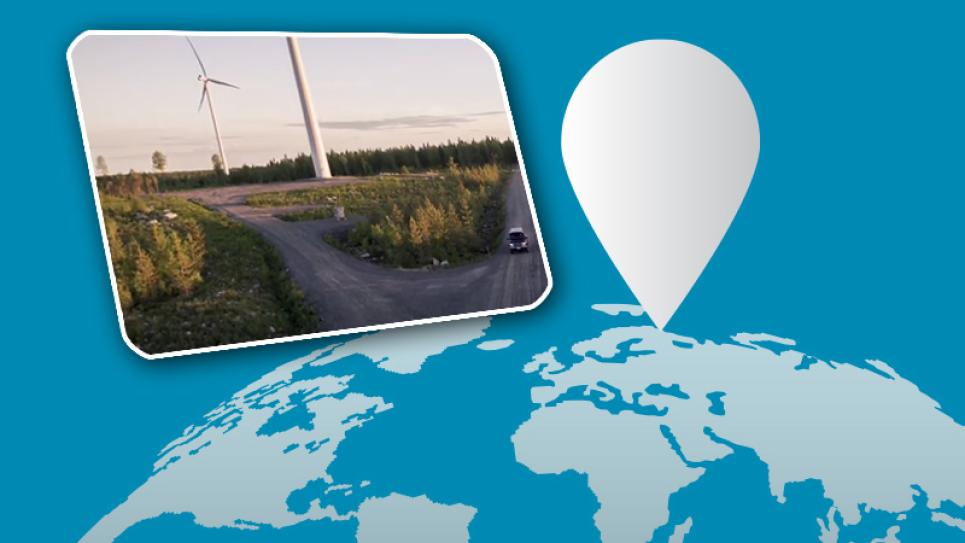 Watch a video about wind energy technology in northern Finland