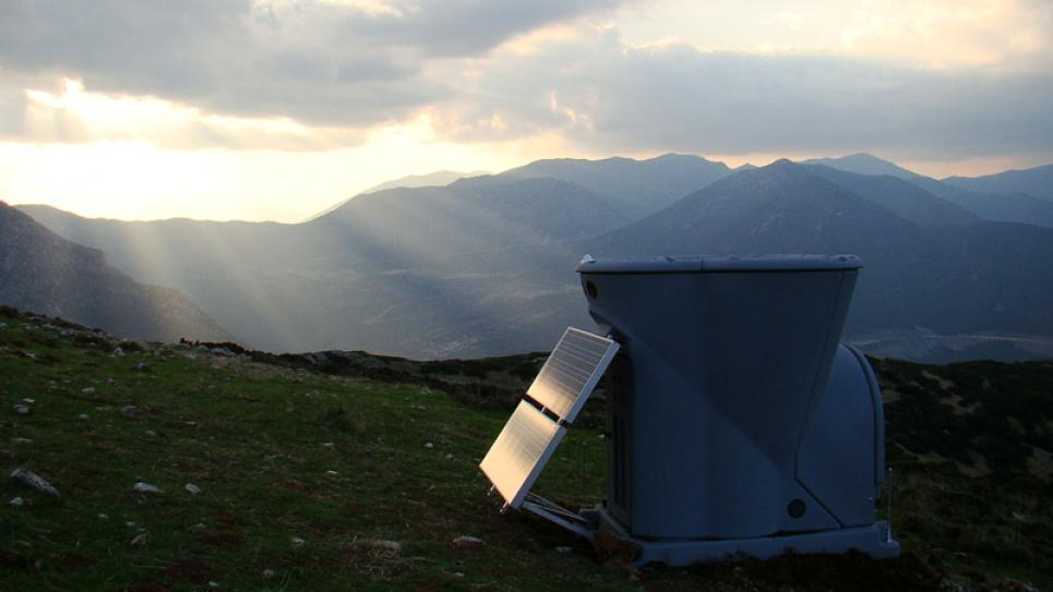 Triton Wind Profiler in the mountains