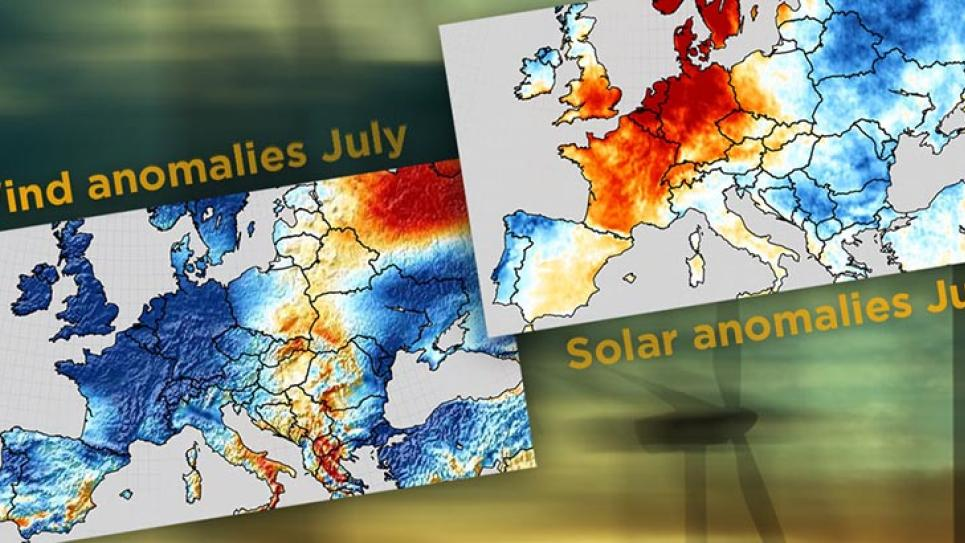 Wind and solar energy correlation maps