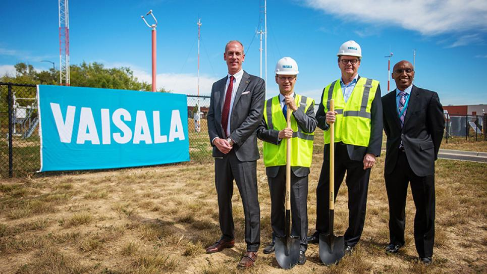 Groundbreaking of Vaisala's New U.S. Headquarters