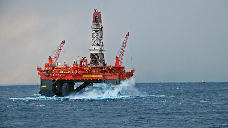 Offshore/ Oil rig at sea