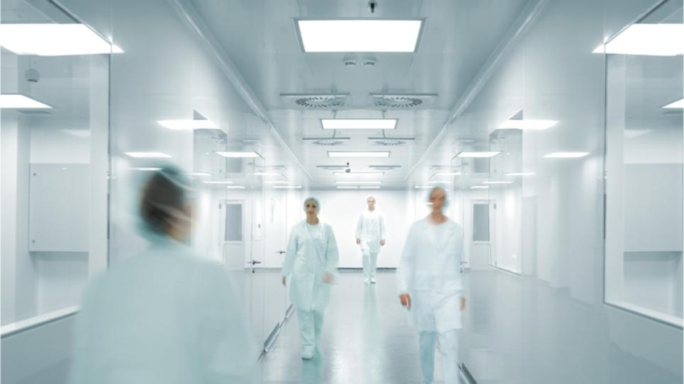 Pharmaceuticals factory workers