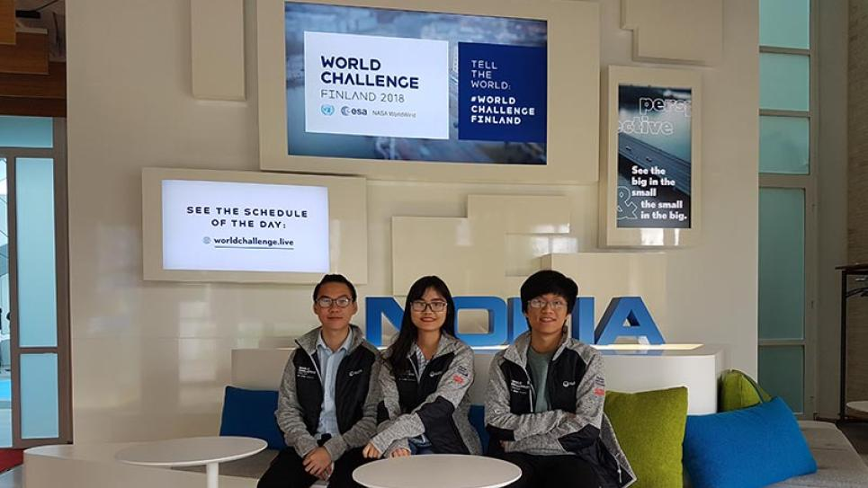 Winners of Vaisala's challenge in World Challenge Finland 2018