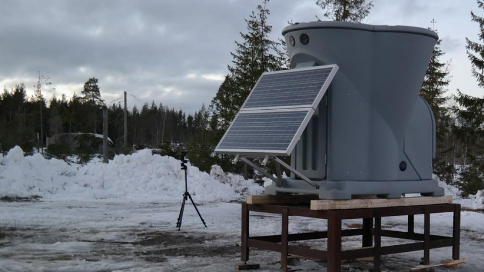 Triton Wind Profiler on snow platform