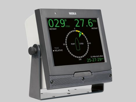 Maritime Wind Display WID411 for showing true and relative wind speed and direction in real time