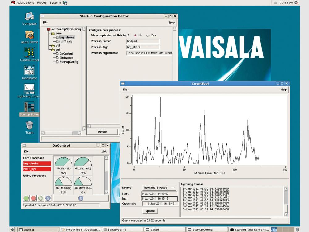 Vaisala Thunderstorm Total Lightning Database TLD100 and TLD200