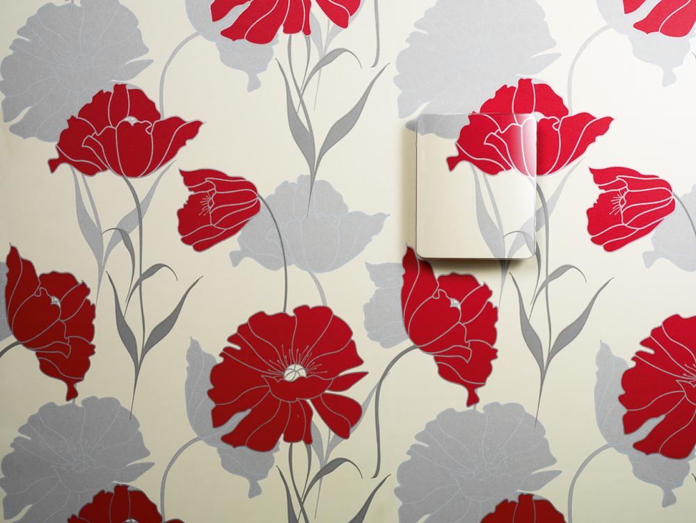 An example of a decorative cover for GMW90 and HMW90 with wallpaper
